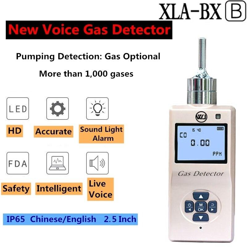 0.01PPM Ozone Gas Leak Detector Portable Ozone Monitor 32-bit Voice Metal AD Chip 2.5 Inch Suction Pump Alarm Air Quality Sensor