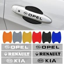 1 conjunto maçaneta da porta do carro de fibra carbono adesivo automotivo para chery fulwin qq tiggo 3 5 fora t11 a1 a3 a5 amuleto m11 eastar elara ec7