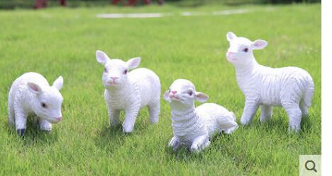 Garden Horticultural Resin Creative simulation of sheep Zodiac Ornamental pig beef and sheep handicraft decoration