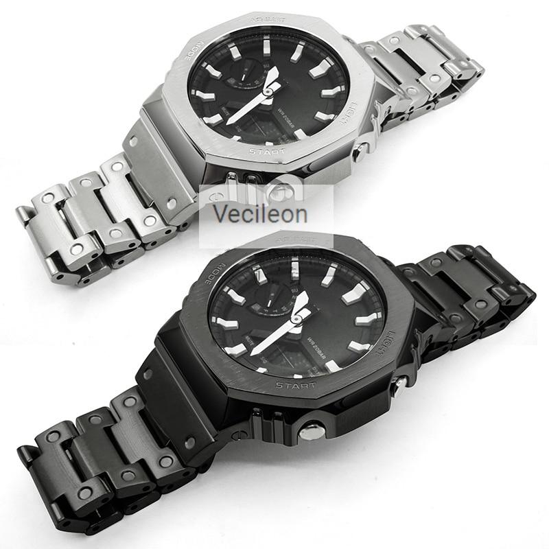 Watchband Tools Metal-Strap GA-2100 316l-Stainless-Steel Steel-Belt Man/women for