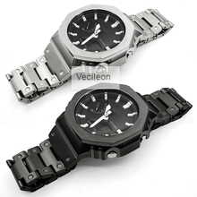 Bezel-Case Watch-Band Steel-Belt Metal-Strap GA2100 316l-Stainless-Steel with for Tools