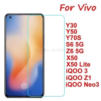 Перейти на Алиэкспресс и купить Закаленное стекло для Vivo X50 Lite Y70S iQOO 3 Z1 Neo3, защитная пленка для экрана VIVO Y30 Y50 S6 Z6, Защитное стекло для экрана