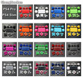 ChengHaoRan Full Set Joysticks Dpad R1 L1 R2 L2 Direction Key ABXY Buttons For Sony PS4 Pro Slim Controller,JDS-040 JDM-040