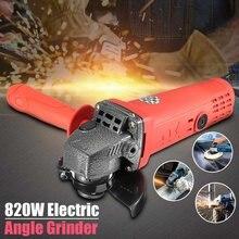 Meuleuse d'angle électrique portative 220V 820W, Machine de meulage de coupe pour métal et bois, Machine de polissage