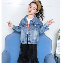 Brand Coat for Girls 2019 Fashion Cartoon Baby Girls Boys Toddler Denim Jacket Casual Jean Lucky Child Jacket Coat Clothes Tops