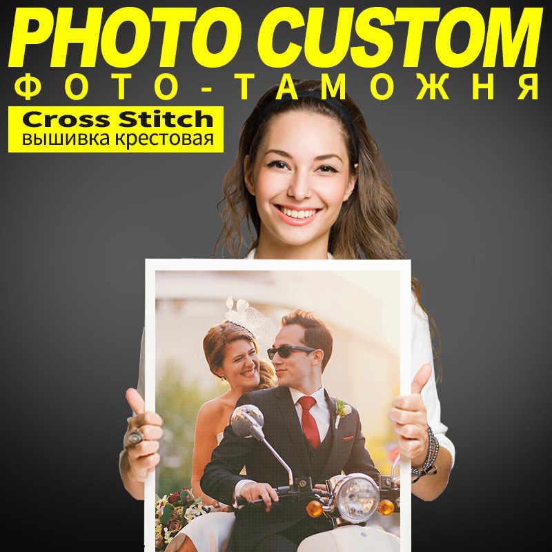 Meian Photo CUSTOMข้ามชุดเย็บปักถักร้อย 11CTด้ายภาพวาดDIYเย็บปักถักร้อยDMCชุดนับพิมพ์บนผ้าใบ