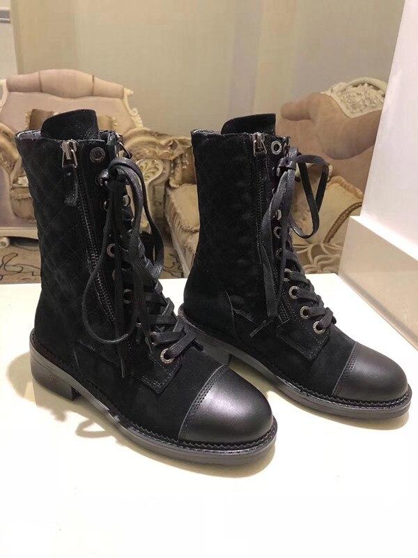 Г., новые модные повседневные женские ботинки «Мартенс» удобные вязаные дышащие женские ботинки на шнуровке женская обувь на толстой подошве - Цвет: 1