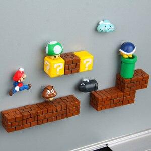 Image 5 - 39 Chiếc 3D Trang Trí Lập Thể Super Mario Bros Nam Châm Gắn Tủ Lạnh Thông Điệp Miếng Dán Người Lớn Người Đàn Ông Cô Gái Bé Trai Trẻ Em Đồ Chơi Quà Tặng Sinh Nhật