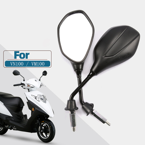Image 1 - 8Mm 10Mm 3C Certificering Universal Motorcycle Achteruitkijkspiegels, Voor Suzuki Haojue Scooter VM100E/N VN100E HJ100T 5C 6C 12