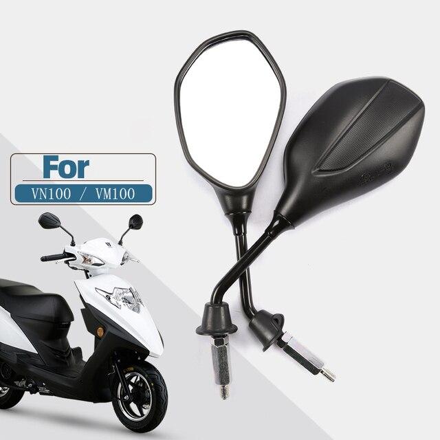8Mm 10Mm 3C Certificering Universal Motorcycle Achteruitkijkspiegels, Voor Suzuki Haojue Scooter VM100E/N VN100E HJ100T 5C 6C 12