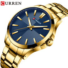 CURREN Gold Men Sport Watch Quartz Wristwatches Business Clock Stainless Steel Luxury Brand Waterproof Relogio Masculino 10pcs l7812cv to220 l7812 to 220 7812cv new and original ic