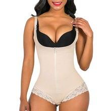 Shapewear Postpartum Body Shaper per donne incinte corsetto senza cuciture controllo della pancia cintura persiana pizzo cerniera OpenBust Body