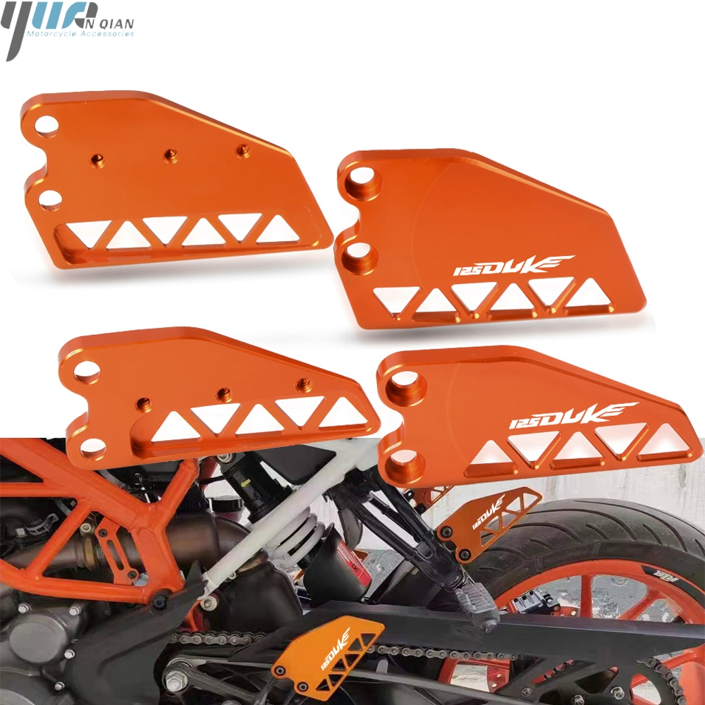 125 DUKE Motorcycle CNC Aluminum Front Heel Protective Cover Guard Front Brake cylinder guard FOR KTM DUKE 125 2017 2018 2019 image