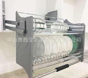 Basket Dishes Lift-Cabinet Descent Segment Adjustable Intensity Stainless-Steel