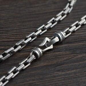 Image 2 - Collar de plata de ley 925 para hombre, cadena regalo de 7mm de grosor