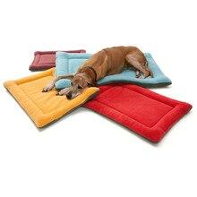 Зимняя подушка для собаки, кошки, коврики для домашних животных, мягкая кровать для щенка, для сна, для питомника, теплое толстое одеяло, матрас для маленьких, средних и больших собак, кровать