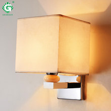 Nordic LED Indoor Lighting E27 Wall Lamp Black Modern Bedroom Fabric Reading Study Living Room Decorative Wall Sconce Bed Light