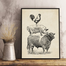 Плакаты винтажные животные холст настенные картины для дома