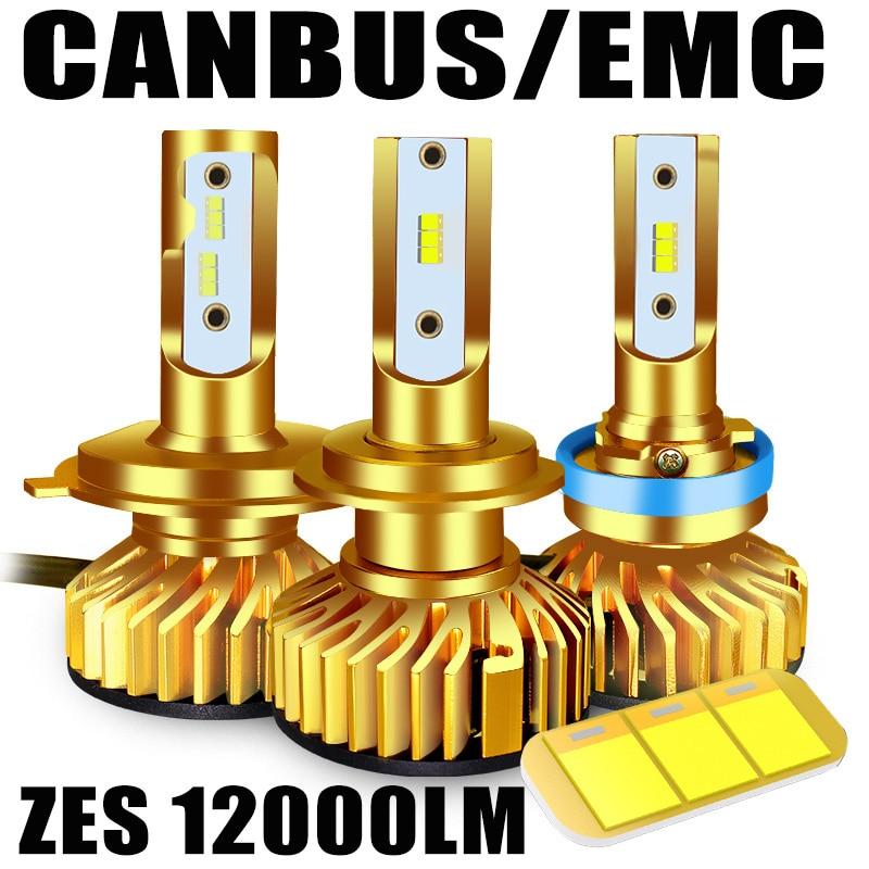 BAGELED Canbus LED H4 H7 LED Lamp H1 H3 HB3 9005 9006 Hb4 H8 H9 H11 LED Headlamp 6500K 5000K  12000LM 72W ZES Chip Led Headlight