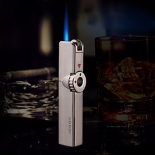 Ultra-thin Retro Classic Grinding Wheel Inflatable Gas Lighter Windproof Metal S