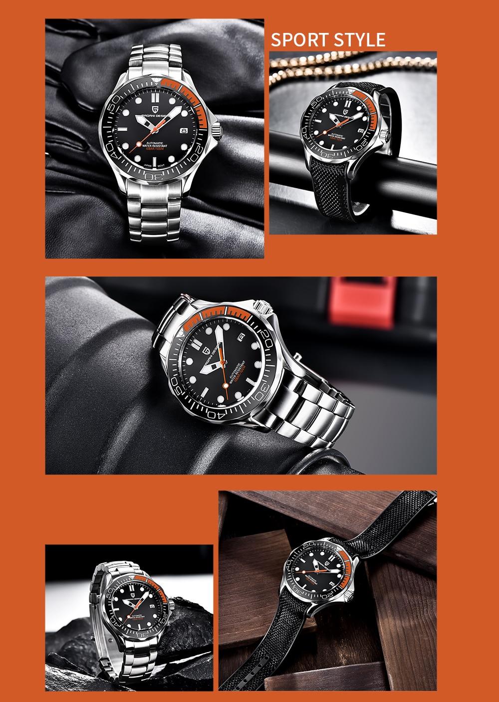 "Pagani Design PD-1667 BLKN ""Seamaster"""