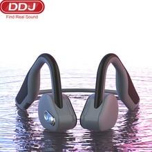 цена на ddj BH128 headphones Bluetooth 5.0 Bone Conduction Headsets Wireless Sports earphones Handsfree Headsets with microphone