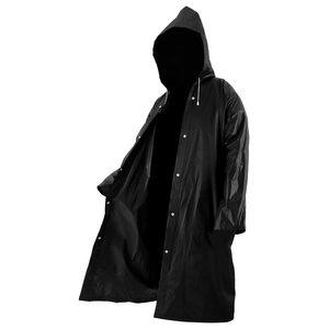 Image 3 - Mode Frauen männer EVA Transparent Regenmantel Tragbare Outdoor Reise Regenbekleidung Wasserdichte Camping Mit Kapuze Kunststoff Regen Abdeckung