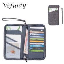 Дорожный кошелек, органайзер для документов, семейный держатель паспорта