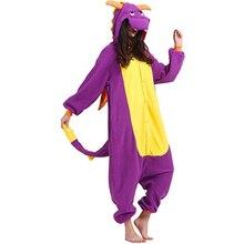 Erwachsene Spyro Drachen Onesies Niedlichen Tier Cartoon Pyjamas Animy Cosplay Kostüm Party Overalls Weihnachten Halloween Party Onesies