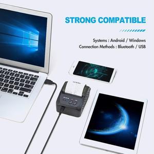 Image 2 - Taşınabilir Mini 58mm Bluetooth yazıcı taşınabilir termal makbuz yazıcı cep telefonu Android iOS için Windows cep fatura