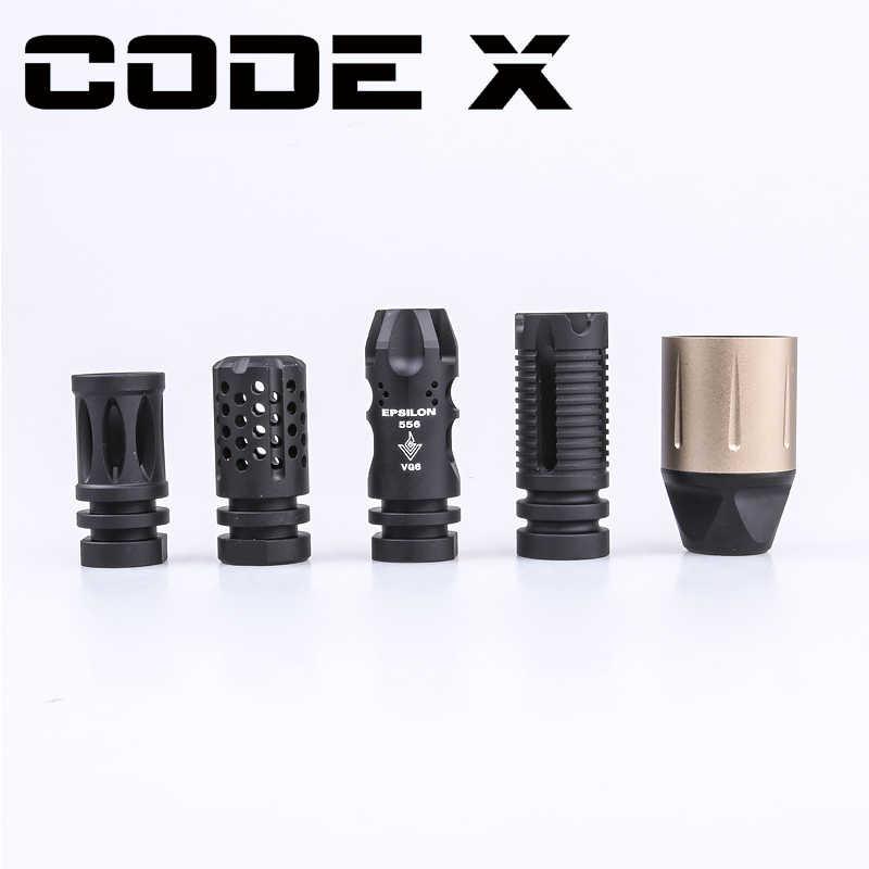 Compensator de arma de brinquedo código x, balster de metal com dentes traseiras de 14mm, jinming 10 acr, arma de brinquedo acessórios