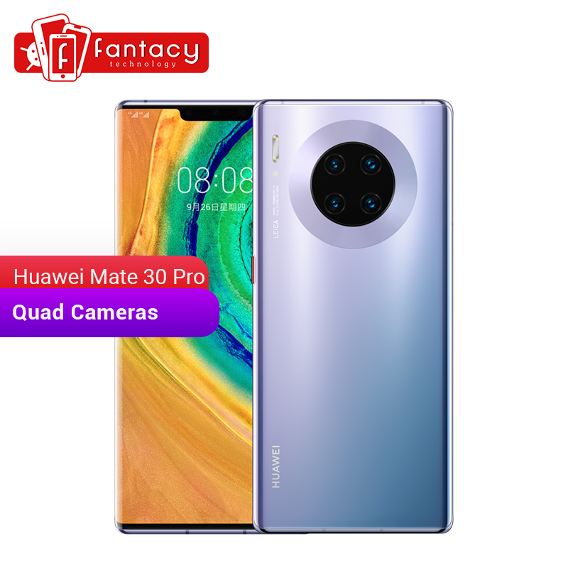 Huawei Mate 30 Pro 8GB 128GB Smartphone 40MP Triple caméras 32MP caméra frontale 6.53 ''plein écran Kirin 990 27W sans fil QC