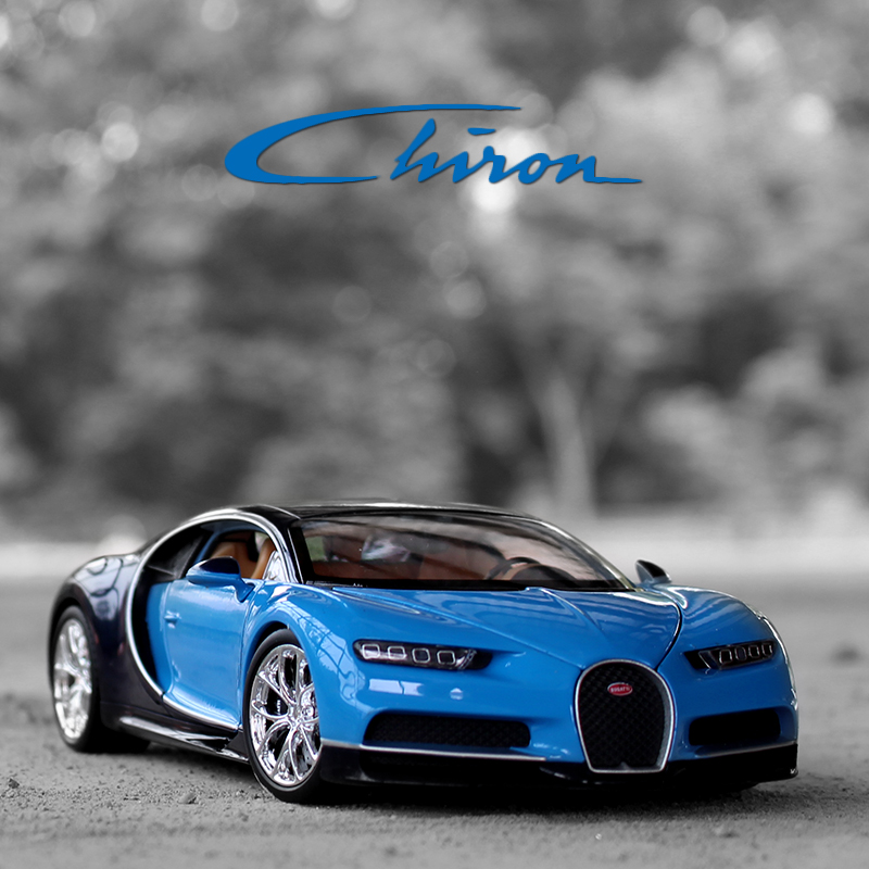 Welly 1/24 Scale Bugatti Chiron Racing Super Sports Car Diecast Display Plastic Alloy Model Child Children Kids Boys Toy