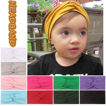 Dziecko jednolity kolor Bowknot pałąk dzieci noworodka dziewczyny włosy kokarda ślubna akcesoria nakrycia głowy повязка на голову dla noworodka tanie i dobre opinie TELOTUNY CN (pochodzenie) Mikrofibra Unisex Stałe Opaski na głowę 0-1 M Baby Toddler Turban Girls Baby Toddler Turban Solid Headband