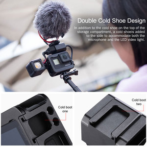 Image 5 - Ulanzi V3 Pro Vlog Metal Case Cage for Gopro Hero 7 6 5 Original Microphone Battery Adapter for Gopro