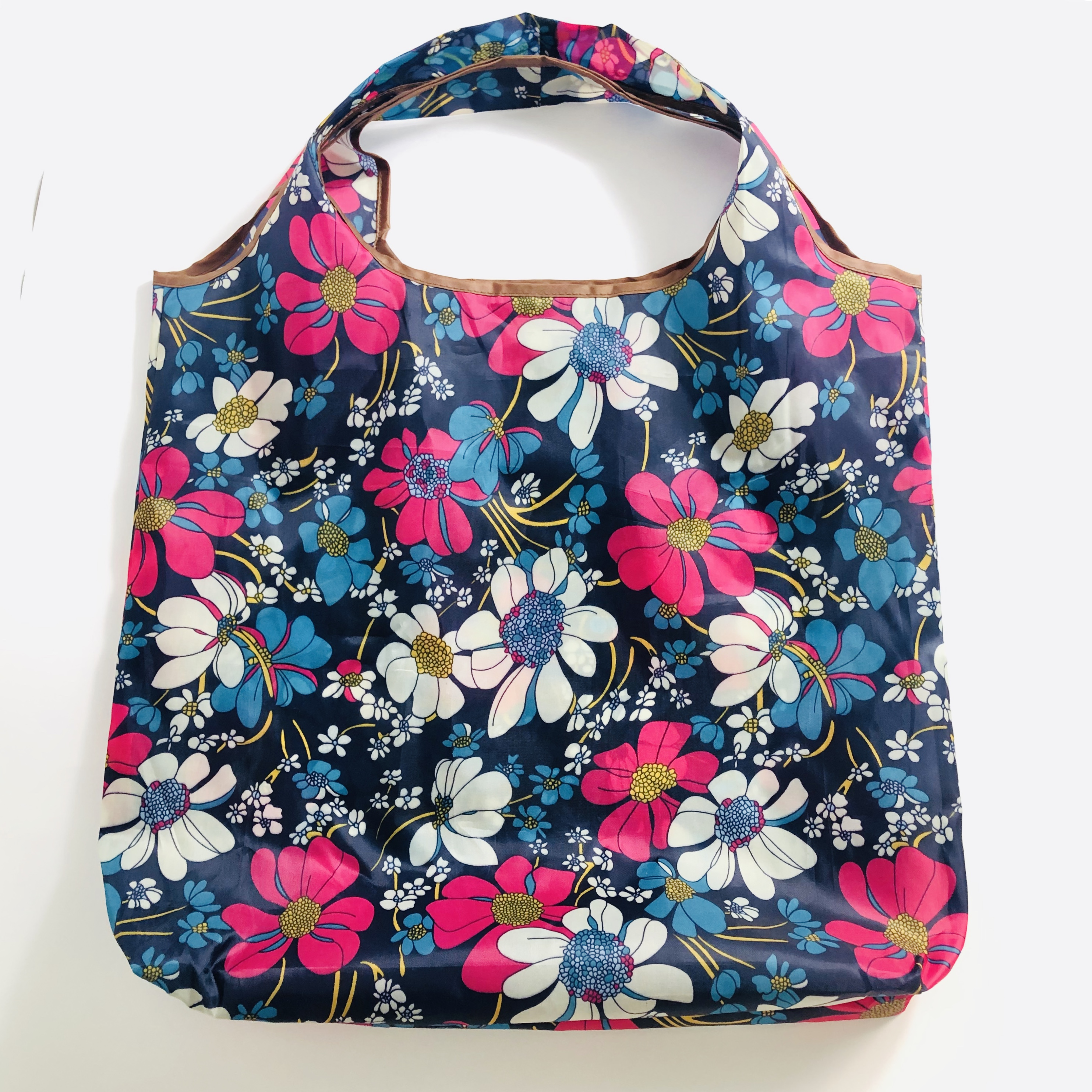 SHoping Bag With Color Eco Reusable Shopping Tote Bag Cartoon Floral Fruit Vegetable Grocery