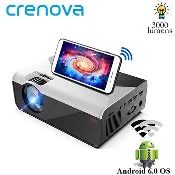 Crenova mini projetor suporte 1080p g08 3000 lúmen opcional android g08c wifi bluetooth para o telefone led projetor 3d casa filme
