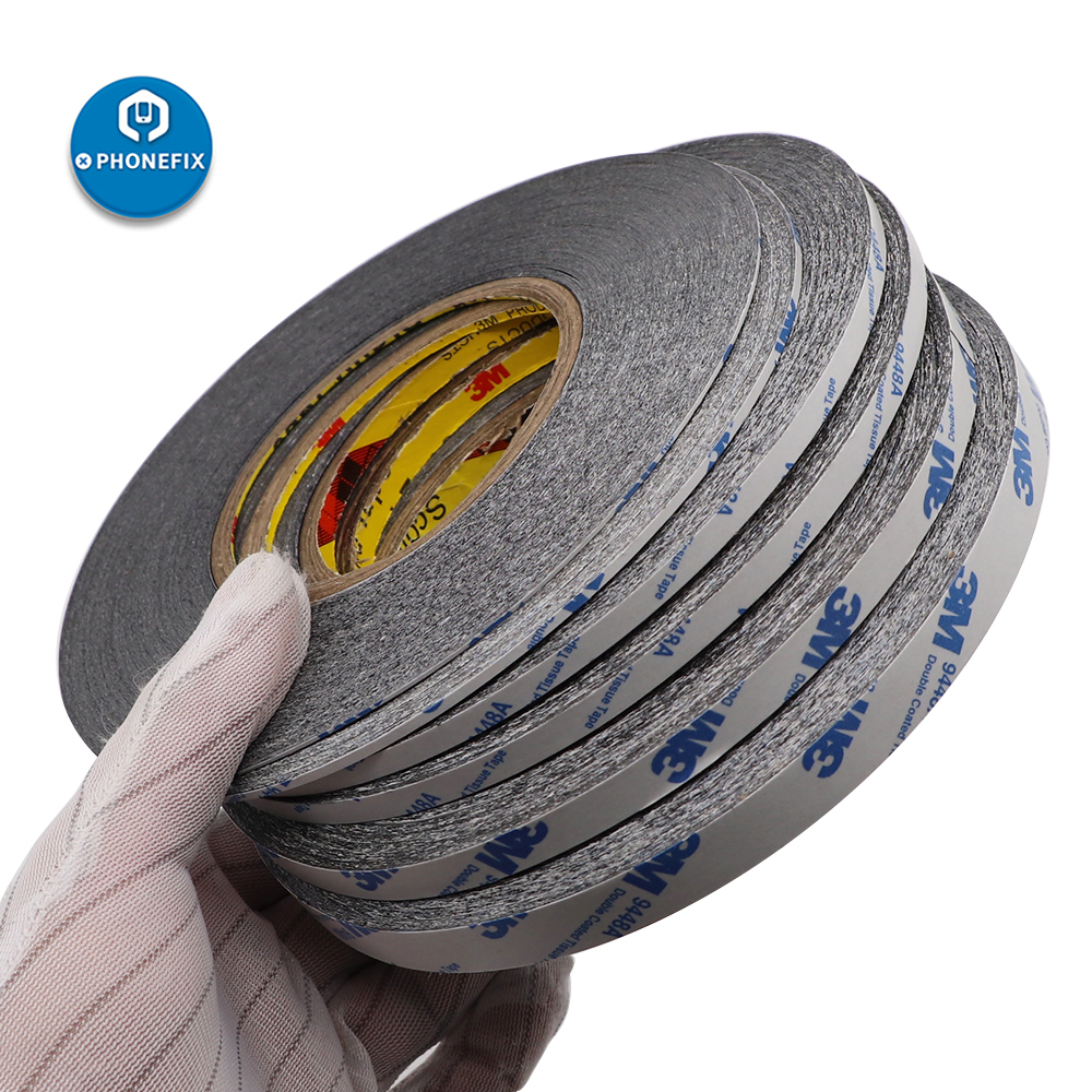 1/2/3/5mm Double Side Tape 50M Black Sticker Double Sided Adhesive Tape For Cellphone Touch Screen LCD Display Digitizer Repair