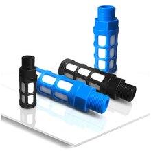 Pneumatic Components1/8 1/4 3/8 1/2 3/4 BSP Male Thread Plastic silencer Pneumatic Black blue Air Quick Exhaust Muffler