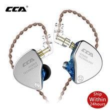 Cca CA4 1BA + 1DD Hybrid 2PIN In Ear Oortelefoon Hifi Dj Monito Running Sport Oortelefoon Headset Oordopjes Oortelefoon Voor zax C12 C16 Zsx