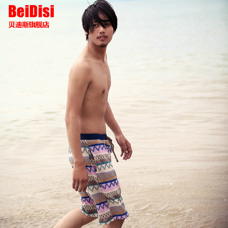 Betis Bathing Suit Women's 2016 New Style Korean-style Men Fashion Handsome Boxer Beach Shorts Couples Swimming Trunks