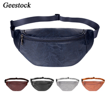 Phone-Pouch Bum-Bag Fanny-Pack Women Waterproof Fashion Geestock Casual Hip for Outdoor-Sports