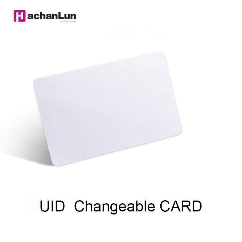 HaChanLun 50pcs UID 13.56MHz Changeable Smart Keyfobs Clone For 1K S50 MF1 RFID Access Control Block 0 Sector Writable IC Card