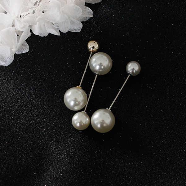 Fashion Klasik Hot Penjualan Baru Sederhana dan Serbaguna Double-Headed Mutiara Pin untuk Shirt Sweater Pin Wanita Hh88