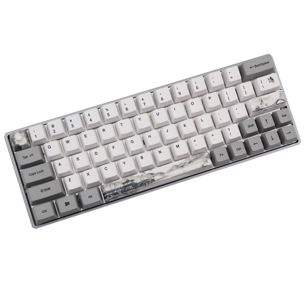Dye Subbed Keycap 60% PBT OEM Keycap Set Mechanische Toetsenbord Keycap Voor GH60 RK61/ALT61/Annie /poker Keycap GK61 GK64 Dz60