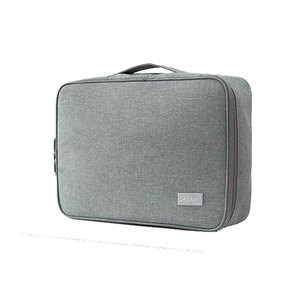 Image 2 - Password Office Bag Multi Purpose Briefcases Polyester A4 Documents Pouch Waterproof Business Travel Tote Bag