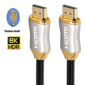 Image 3 - 8K כבל HDMI 4K 60HZ UHD HDR 48Gbps V2.1 עבור redmi S9 S10 מסך טלוויזיה PS4 ספליטר מתג אודיו וידאו כבל 8K HDMI 1m 2m 3m