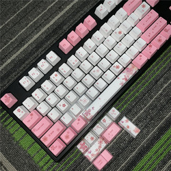 OEM Conjunto de Teclas Do Teclado Mecânico PBT PBT Keycaps Completo Dye-Sublimation Keycap Keycap Para Todos Sakura Conjunto