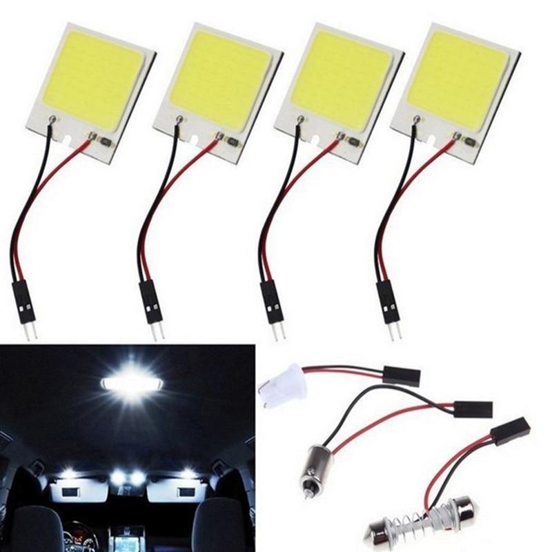 4 pièces Auto LED voiture lumière COB lampe conseil T10 Double pointe 18 24 36 48 lampe Led lampe de toit voiture Gadgets voiture lumière intérieure