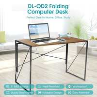 Douxlife Foldable Computer Desk Laptop Table Writing Table Fladable Design Easy Assemable Standing Desk Home Office furniture